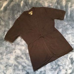 Eddie Bauer Short-sleeve Black Cardigan
